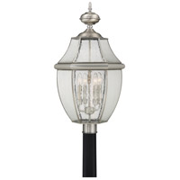 Quoizel Newbury 4 Light Outdoor Post Lantern in Pewter NY9016P
