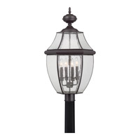 Newbury 4 Light 30 inch Medici Bronze Outdoor Post Lantern