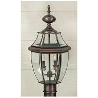 Quoizel Lighting Newbury 2 Light Outdoor Post Lantern in Aged Copper NY9042AC