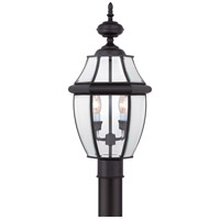 Quoizel Lighting Newbury 2 Light Outdoor Post Lantern in Mystic Black NY9042K