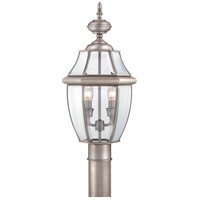 Quoizel Lighting Newbury 2 Light Outdoor Post Lantern in Pewter NY9042P