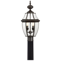 Quoizel Lighting Newbury 2 Light Outdoor Post Lantern in Medici Bronze NY9042Z