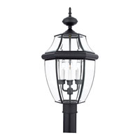 Quoizel NY9043K Newbury 3 Light 23 inch Mystic Black Outdoor Post Lantern alternative photo thumbnail