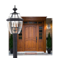 Quoizel Lighting Newbury 1 Light Outdoor Wall Lantern in Mystic Black NY8316K alternative photo thumbnail