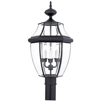Quoizel Lighting Newbury 3 Light Outdoor Post Lantern in Mystic Black NY9043K