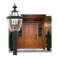 Quoizel Lighting Newbury 3 Light Outdoor Post Lantern in Mystic Black NY9043K alternative photo thumbnail