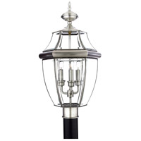 Newbury 3 Light 23 inch Pewter Outdoor Post Lantern