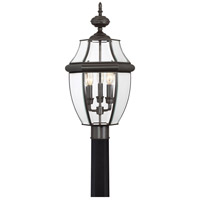 Quoizel Lighting Newbury 3 Light Outdoor Post Lantern in Medici Bronze NY9043Z