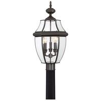 Quoizel Lighting Newbury 3 Light Outdoor Post Lantern in Medici Bronze NY9043Z photo thumbnail