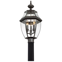 Quoizel NY9043Z Newbury 3 Light 23 inch Medici Bronze Outdoor Post Lantern alternative photo thumbnail