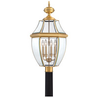 Quoizel Lighting Newbury 4 Light Outdoor Post Lantern in Antique Brass NY9045A