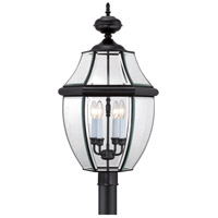 Quoizel Lighting Newbury 4 Light Outdoor Post Lantern in Mystic Black NY9045K
