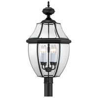 Quoizel NY9045K Newbury 4 Light 30 inch Mystic Black Outdoor Post Lantern