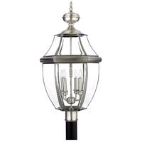 Newbury 4 Light 30 inch Pewter Outdoor Post Lantern