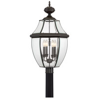 Quoizel Lighting Newbury 4 Light Outdoor Post Lantern in Medici Bronze NY9045Z