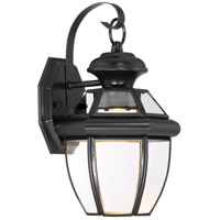 Quoizel NYCL8407K Newbury Clear LED 13 inch Mystic Black Outdoor Wall Lantern