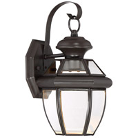 Newbury Clear LED 13 inch Medici Bronze Outdoor Wall Lantern