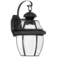 Quoizel NYCL8409K Newbury Clear LED 14 inch Mystic Black Outdoor Wall Lantern