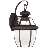 Quoizel NYCL8409Z Newbury Clear LED 14 inch Medici Bronze Outdoor Wall Lantern