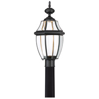 Newbury Clear LED 22 inch Mystic Black Outdoor Post Lantern