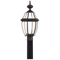 Newbury Clear LED 22 inch Medici Bronze Outdoor Post Lantern
