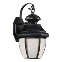 Newbury LED 7 inch Mystic Black Wall Lantern Wall Light in LED AC 120V