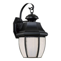 Newbury 8 inch Mystic Black Wall Lantern Wall Light in LED AC 120V