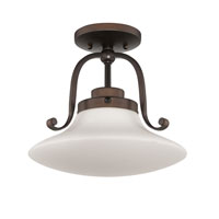 Quoizel Lighting Olympia 1 Light Semi-Flush Mount in Palladian Bronze OA1712PN alternative photo thumbnail