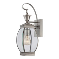 Quoizel Oasis 1 Light Outdoor Wall Lantern in Pewter OAS8406PFL