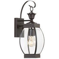 Oasis 1 Light 17 inch Medici Bronze Outdoor Wall Lantern in Standard