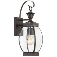 Quoizel OAS8406Z Oasis 1 Light 17 inch Medici Bronze Outdoor Wall Lantern in Standard