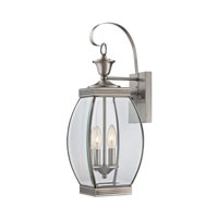 Quoizel Lighting Oasis 2 Light Outdoor Wall Lantern in Pewter OAS8408P