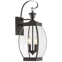 Quoizel Lighting Oasis 2 Light Outdoor Wall Lantern in Medici Bronze OAS8408Z