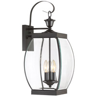 Oasis 3 Light 23 inch Medici Bronze Outdoor Wall Lantern