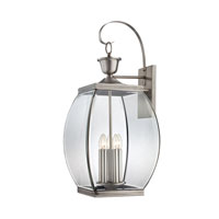 Oasis 5 Light 33 inch Pewter Outdoor Wall Lantern