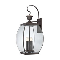 Oasis 5 Light 33 inch Medici Bronze Outdoor Wall Lantern
