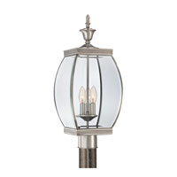 Oasis 3 Light 23 inch Pewter Post Lantern