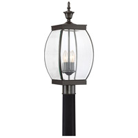 Quoizel Lighting Oasis 3 Light Outdoor Post Lantern in Medici Bronze OAS9009Z