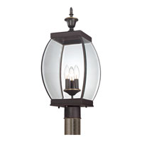 Quoizel OAS9009Z Oasis 3 Light 22 inch Medici Bronze Outdoor Post Lantern alternative photo thumbnail