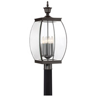 Oasis 4 Light 27 inch Medici Bronze Post Lantern