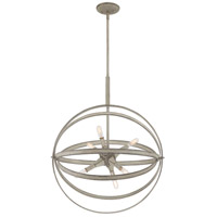 Quoizel OCL2823WM Oculus 6 Light 22 inch Weathered White Maple Pendant Ceiling Light