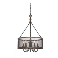 Odell 5 Light 20 inch Imperial Bronze Pendant Ceiling Light in B10 Candelabra Base