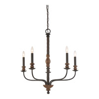 Odell 5 Light 28 inch Imperial Bronze Chandelier Ceiling Light in B10 Candelabra Base