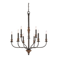 Odell 9 Light 34 inch Imperial Bronze Foyer Chandelier Ceiling Light in B10 Candelabra Base