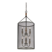 Odell 6 Light 18 inch Imperial Bronze Foyer Chandelier Ceiling Light in B10 Candelabra Base