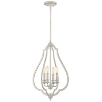 Quoizel OKF5216AWH OKeefe 4 Light 16 inch Antique White Foyer Pendant Ceiling Light