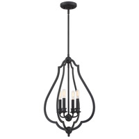 Quoizel OKF5216MBK O'Keefe 4 Light 16 inch Matte Black Foyer Pendant Ceiling Light