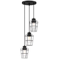 Olson 3 Light 13 inch Earth Black Pendant Ceiling Light
