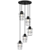 Olson 5 Light 17 inch Earth Black Pendant Ceiling Light