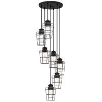 Olson 7 Light 18 inch Earth Black Pendant Ceiling Light